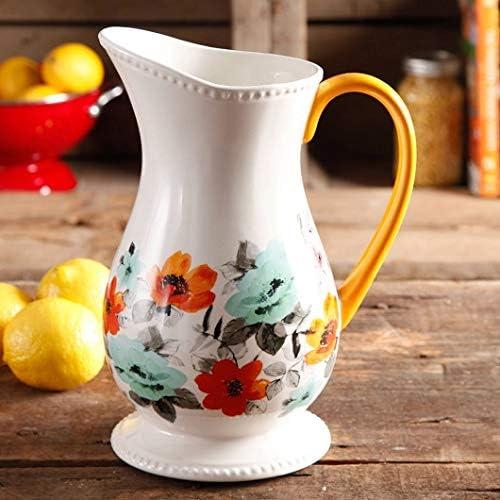 Pioneer woman stoneware pitcher willow pattern tea pitcher water pitcher