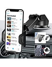 AUSELECT 3in1 Car Phone Holder, Windshield Phone Holder for Car Mount, Compatible with Samsung, iPhone, Galaxy, Google, Huawei