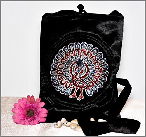 Crafts Galore by Fabucrafts , Damen Schultertasche schwarz schwarz