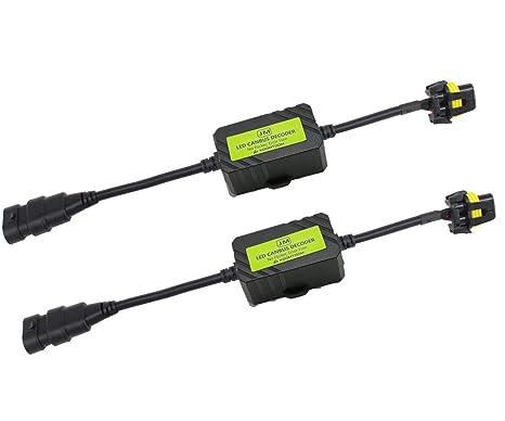 KOOMTOOM 9005/HB3/HIR2 LED Decoder Resistor Adaptador de mazo de cables para faros