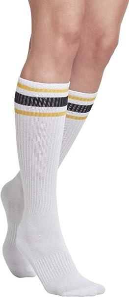 Urban Classics Long Stripe Socks 2-Pack, Calcetines para Hombre, Mehrfarbig (Wht