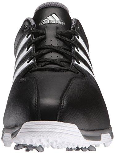 Adidas Mens 360 Traxion Nwp Golf Nucleo Chiuso Nero / Ftwr Bianco / Ferro Metallizzato