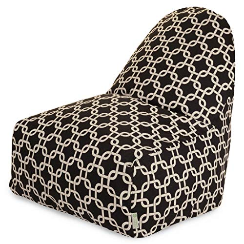 Majestic Home Goods Kick-It Chair, Links, Black