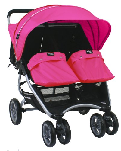 Valco Baby Snap Duo (Twin) Vogue Set (Hood, Booties, Harness Covers) (Hot Pink) by Valco Baby (Image #1)