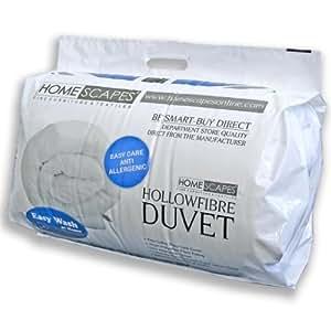 Homescaes Edredón nórdico Confort en fibra hueca siliconada para cama de 180 con una densidad de 350gm²