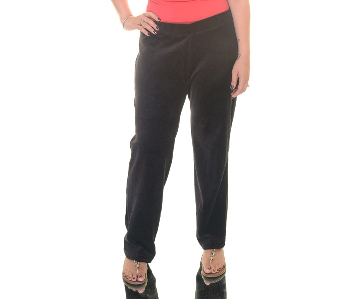 Style & Co. Womens Plus Velour Solid Velour Pants