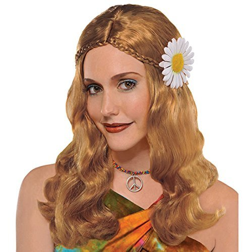Hippie Chick Wig Costume (1960 Wigs)