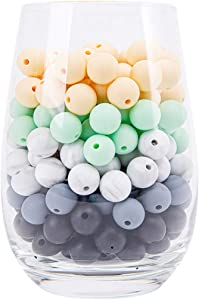 Silicone Beads 12mm 100pc Jewelry Making Beads | Food Grade BPA Free Chewable Beads, Nursing Necklaces, Bracelets