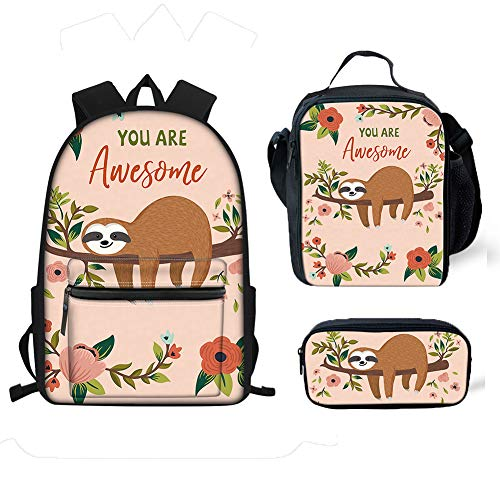 Awesome Backpacks For Girls (chaqlin Girls Backpack Kids School Bookbag Sloth You Are Awesome Lunch Bag Pecncil Bag for Primary Students)
