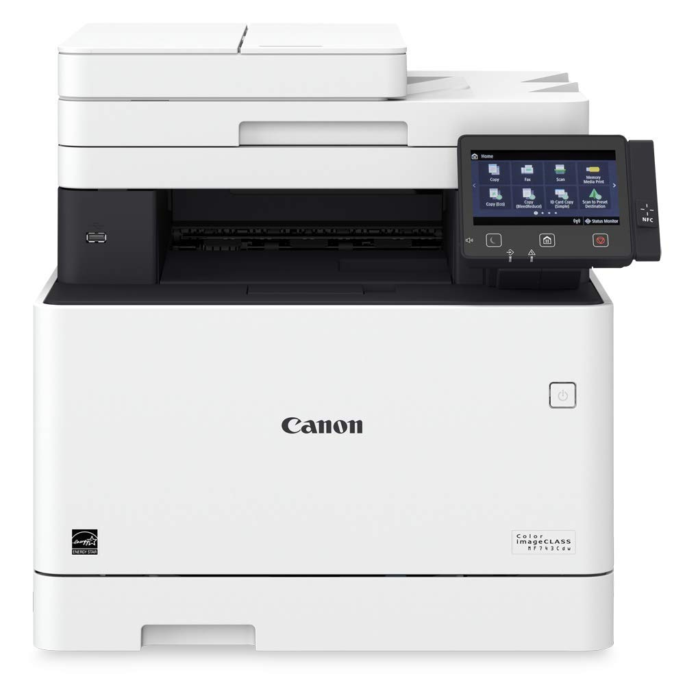 Canon Color imageCLASS MF743Cdw - All in One, Wireless, Mobile Ready, Duplex Laser Printer (Comes with 3 Year Limited Warranty)