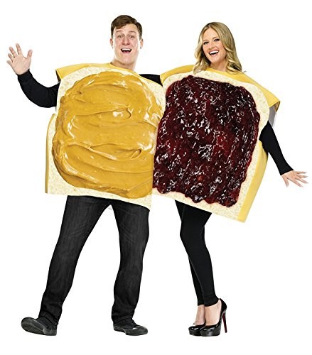 [Peanut Butter and Jelly Costume Set - Standard - Chest Size 33-45] (Peanut Butter And Jelly Time Costume)