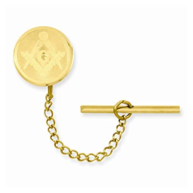 Amazon.com: ICE CARATS Gold Plated Kelly Waters Necklace Chain Masonic Freemason Mason Tie Tac Man Bar/Fashion Jewelry Gift for Dad Mens for Him: ICE ...