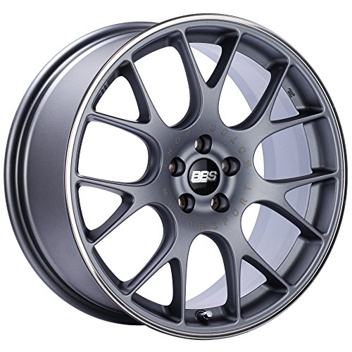 Street Chr (BBS CH-R Titanium Wheel with Painted Finish and Polished Stainless Steel Rim (19x8