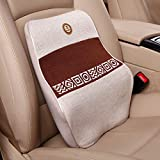 MeiBoAll Car Auto Seat Waist Pillow Lumbar Supports Memory Cotton for Travel and Car Chair Brown