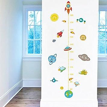 Pegatina pared vinilo decorativo medidor altura mono astronauta para cuartos bebes ni/ños juegos guarderias colegios de CHIPYHOME