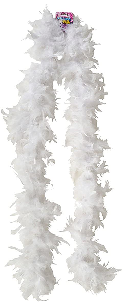 Economy 6' White Feather Boa Costume Accessory Rinco