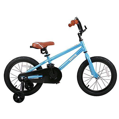 Joystar Blue 16 Inch Kids Bike for Boys, Child Bicycle with Training Wheel for Boys (85% Assembled)