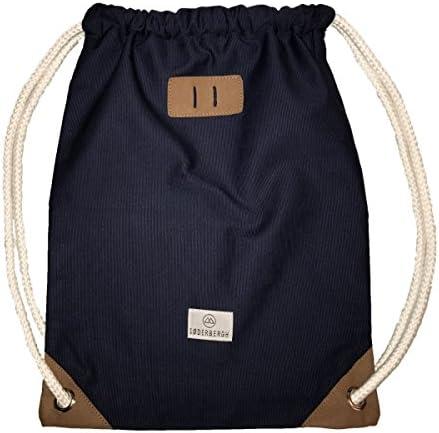 SODERBERGH Turnbeutel Gym Bag Sack Rucksack Sportbeutel Tasche Canvas Hipster Unisex Damen Herren Kinder, Farbe:Blau