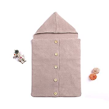 Amazon.com  Newborn Baby Wrap Swaddle Blanket Knit Sleeping Bag Sleep Sack  Baby Infant Kids Toddler Knitting Blanket Swaddle Sleeping Bag Sleep Sack  ... 78fdcc439