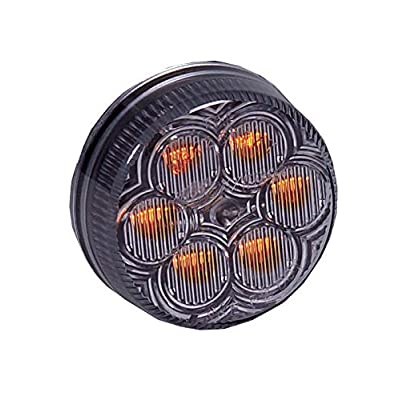 """Maxxima M34260YCL Amber 2"""" Round LED Clear Lens Clearance Marker Light: Automotive"""
