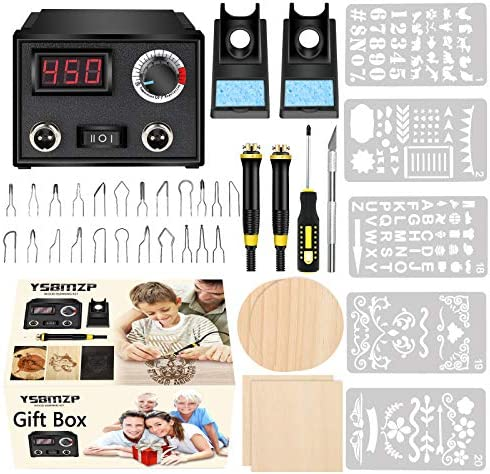 Wood Burning Kit,Wood Burning Tool,Wood Burner Tool,Wood Burning Tips,Pyrography Kit,Wood-Burning Kits Adults Beginners Pen