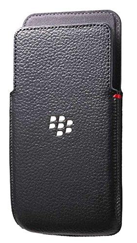 BlackBerry Leather Pocket Case for Z30 - Retail Packaging - Black