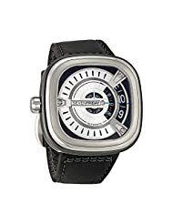 Seven Friday M1-1 Automatic Stainless Steel Case Black Calfskin Mineral Men's Watch