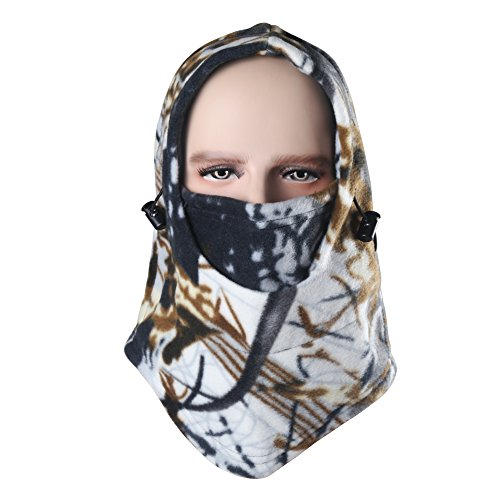 Dseap Balaclava Face Mask - Windproof/Thick/Fleece/Breathable/Lightweight Winter Outdoor Sport Snow Ski Cycling Riding Protective Gear, for Women Ladies Men Children, Camo/Snow Field ()