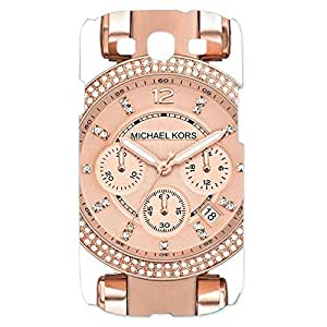 Unique Style MK Michael Kors Luxury Watch Phone Case Cover Customized for Samsung Galaxy S3 3D Hard cover Case_(Rose Gold Style)