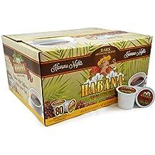 Habana Coffee, Havana Nights Dark Artisanal Blend, Single-Serve Cups, 80 Count