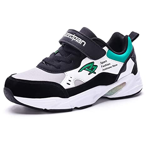 381e3be8 LGXH Boys Girls Casual Trail Running Shoes Breathable Kids Slip On Outdoor  Sports Basketball Sneakers Black