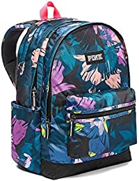 Victorias Secret Pink Campus Backpack Black Floral Print 2017