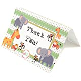 Adorox Baby Jungle Zoo Animals THANK YOU Cards Baby...