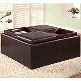 crate and barrel footstools Coaster Storage Ottoman-Dark Brown