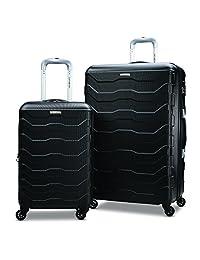 Samsonite Tread Lite Lightweight 2-Piece Hardside Luggage Set (20-Inch/24-Inch), Black, Checked – Medium