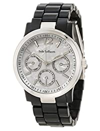 Women's Black Bracelet Watch with Silver Tone Case Designer Inspired Jade LeBaum - JB202742G