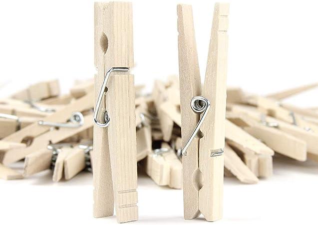 50Pcs Wood Durable Clothespins Wooden Laundry Clothes Pins Paper Peg DIY Clip US
