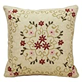 Square cotton cushion European-style embroidered cushions pillowcase for sofa-A 45x45cm(18x18inch)VersionA