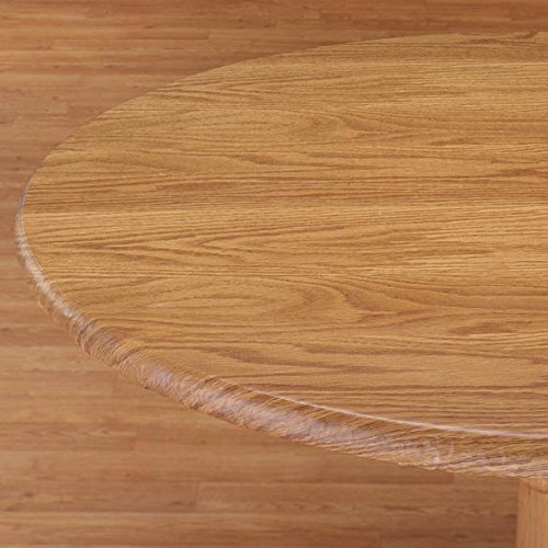 LAMINET Woodgrain Elastic Table Cover, Oblong, Pine Wood