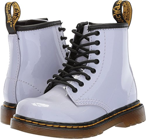 Dr. Martens Kid's Collection Unisex Brooklee 8-Eye Boot (Toddler) Purple Heather Patent Lamper 7 M UK