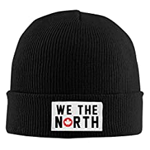 Toronto Raptors Basketball WE THE NORTH Maple Leaf Beanie Hats For Men Women (4 Colors) Black