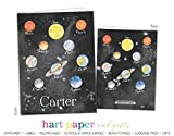 Planets Outer Space Solar System 2 Pocket Folder Gift Name Back to School Supplies Teacher Office Birthday Girl Kids Custom Personalized Custom