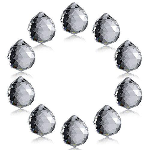 Neewer 1.75 inch / 40mm Clear Crystal Ball Prism Pendant Suncatcher for Feng Shui/Divination or Wedding/Home/Office Decoration(10-Pack)