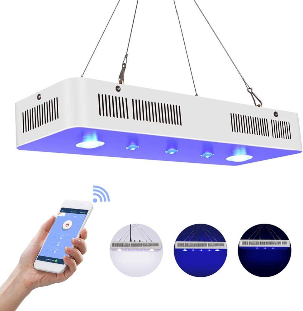 Wifi調光対応169W LEDアクアリウムライトサンゴ礁ライト魚淡水および海水サンゴタンクCOB