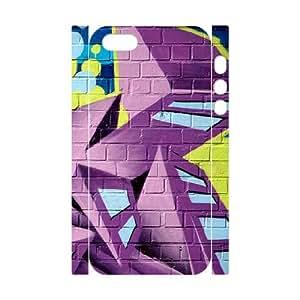 3D IPhone 5,5S Case Protective Cute Street Graffiti, Graffiti Iphone 5s Case Luxury [White]