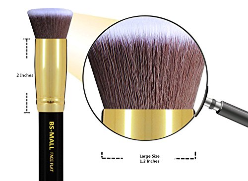 BS-MALLTM-Makeup-Brushes-Premium-Makeup-Brush-Set-Synthetic-Kabuki-Cosmetics-Foundation-Blending-Blush-Eyeliner-Face-Powder-Brush-Makeup-Brush-Kit-10pcs-Golden-Black
