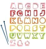 CuteZCute Bento Ham Cheese Carrot Cutter, Letters, 28-Piece
