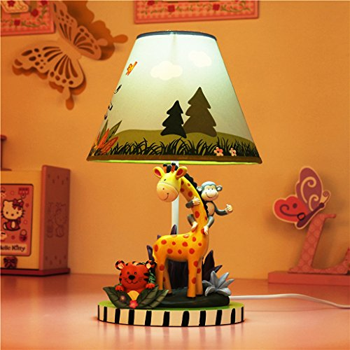 Kindertischlampe Schlafzimmer Nachttischlampe warme pastoralen Lampe dimmbar kreative Karikatur netten Jungen Geburtstagsgeschenk