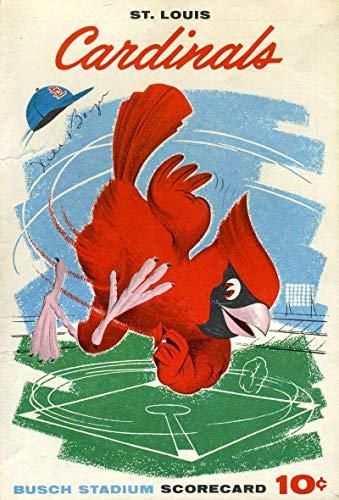 KEN BOYER JSA COA Autograph 1960 Cardinals Scorecard Hand Signed Authentic