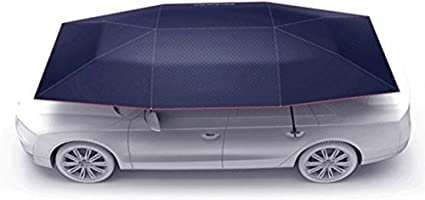 Rainproof and Heat Insulation Mobile Folding Carport CDHH 165 Inch//4.2m Fully Automatic Car Umbrella Roof Sun Cover Car Tent Portable Car Tent Cover